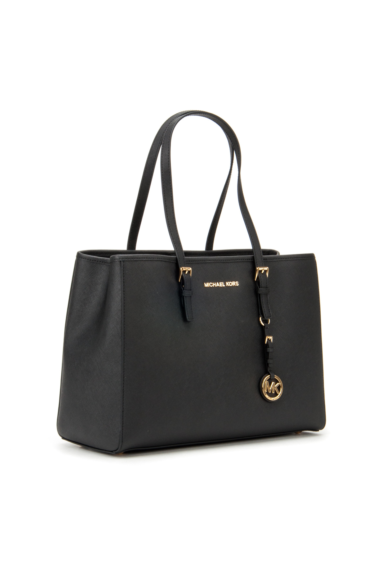 michael michael kors jet set travel tote bag in black lyst. Black Bedroom Furniture Sets. Home Design Ideas