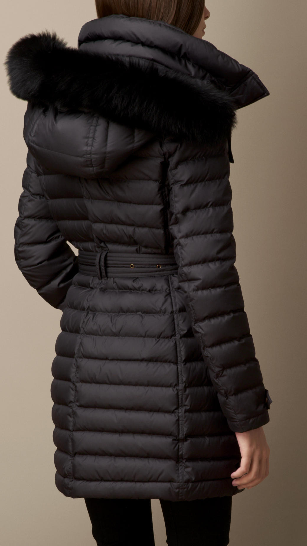 Down filled puffer coat with hood