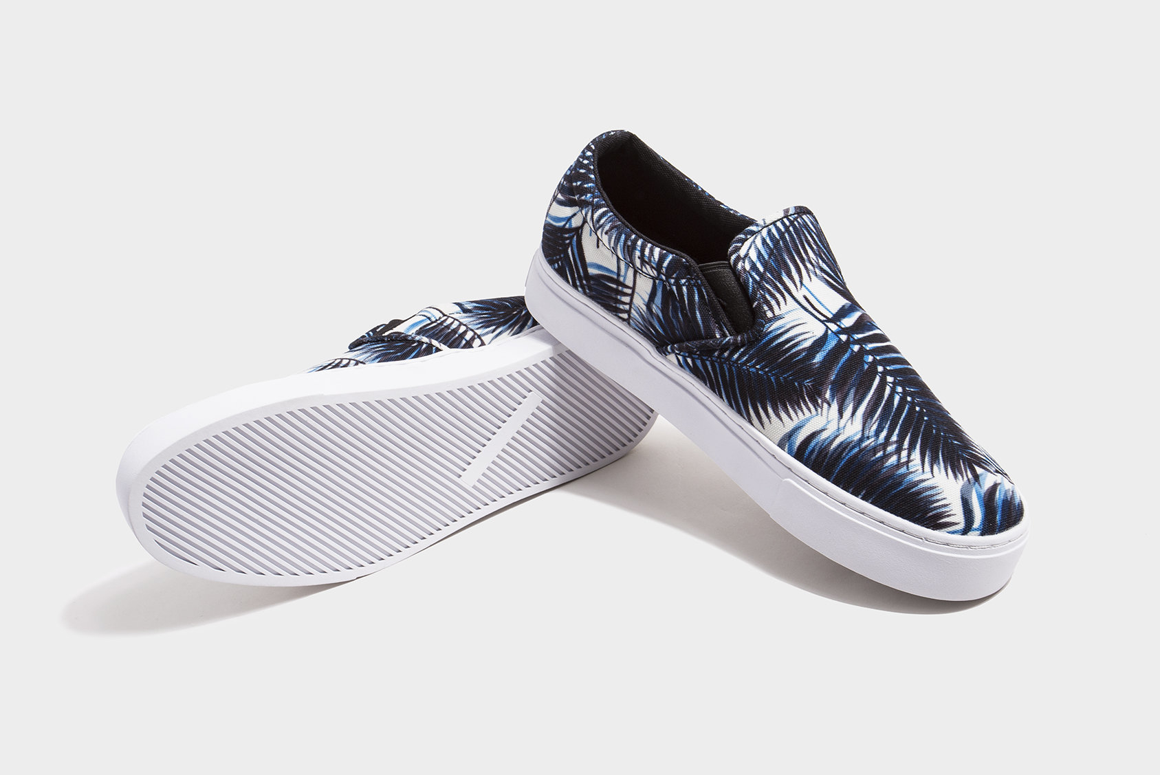 saturdays nyc vass canvas slip on shoes in blue for lyst