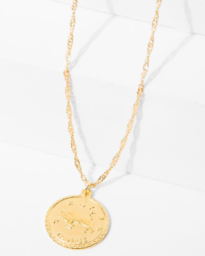 7 For All Mankind Cam Aquarius Necklace In Gold FPUxL