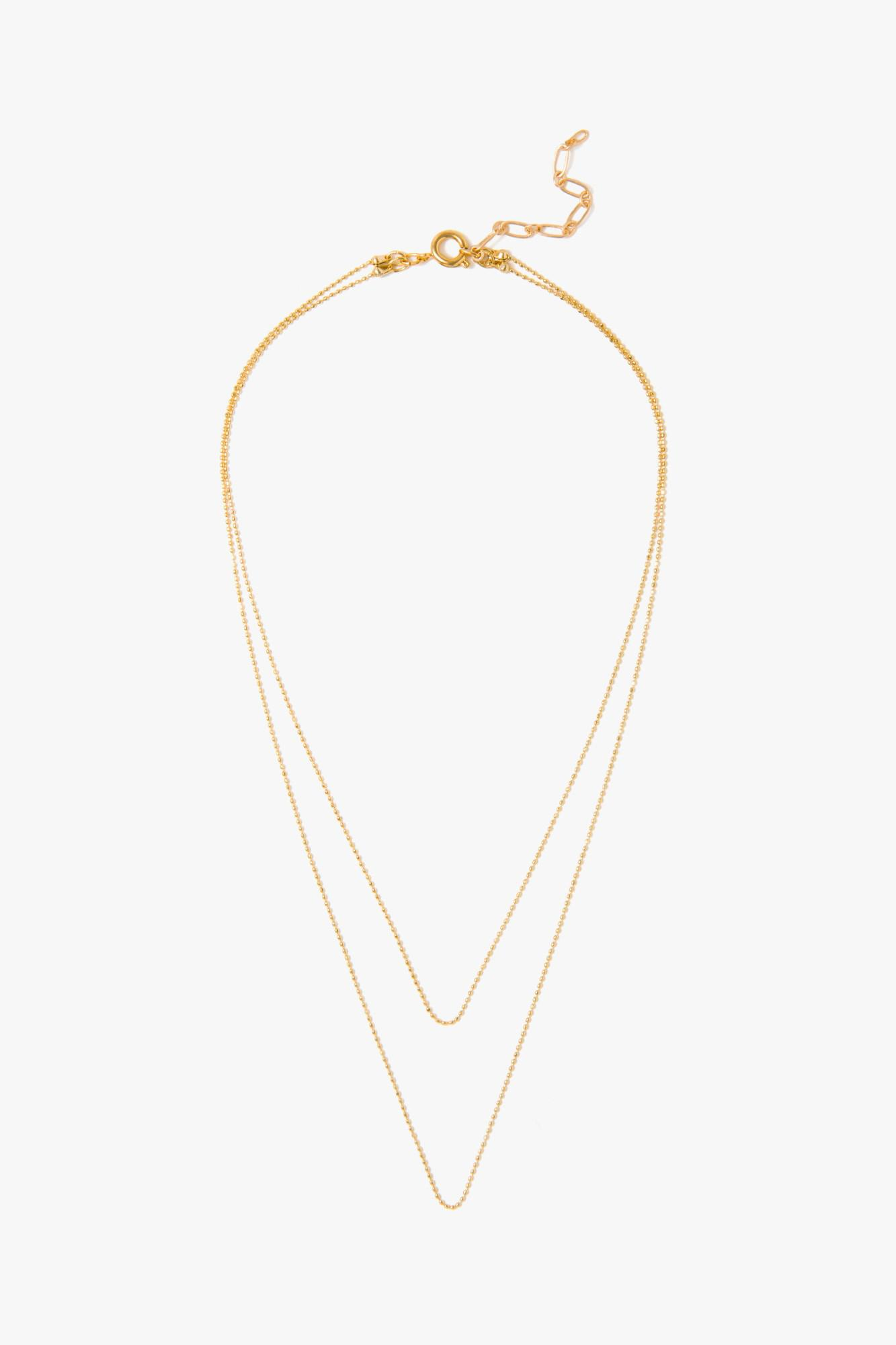 7 For All Mankind Five And Two Camille Necklace In Gold YcCsLJ