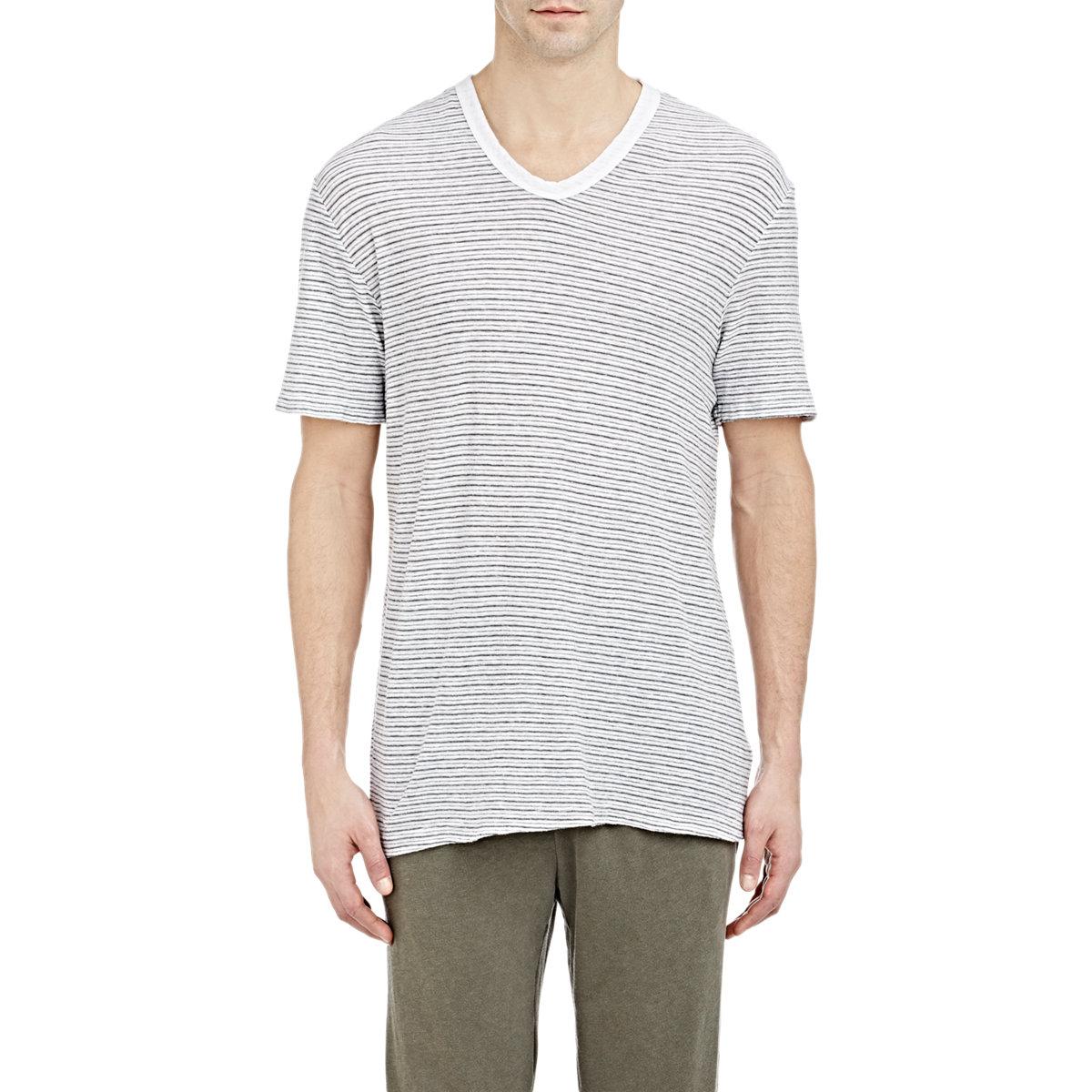 James perse slub t shirt in gray for men white lyst for What is a slub shirt