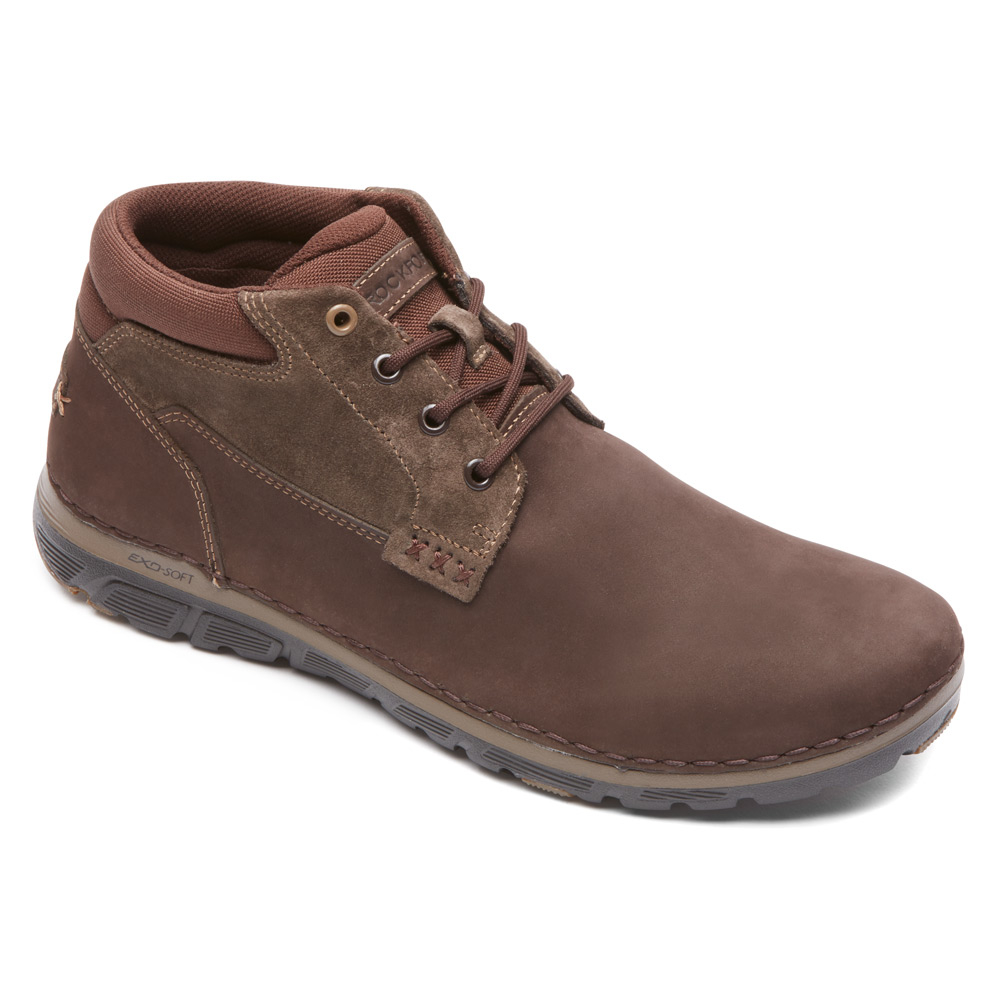 rockport zone cush rocsport pt boot in brown for lyst
