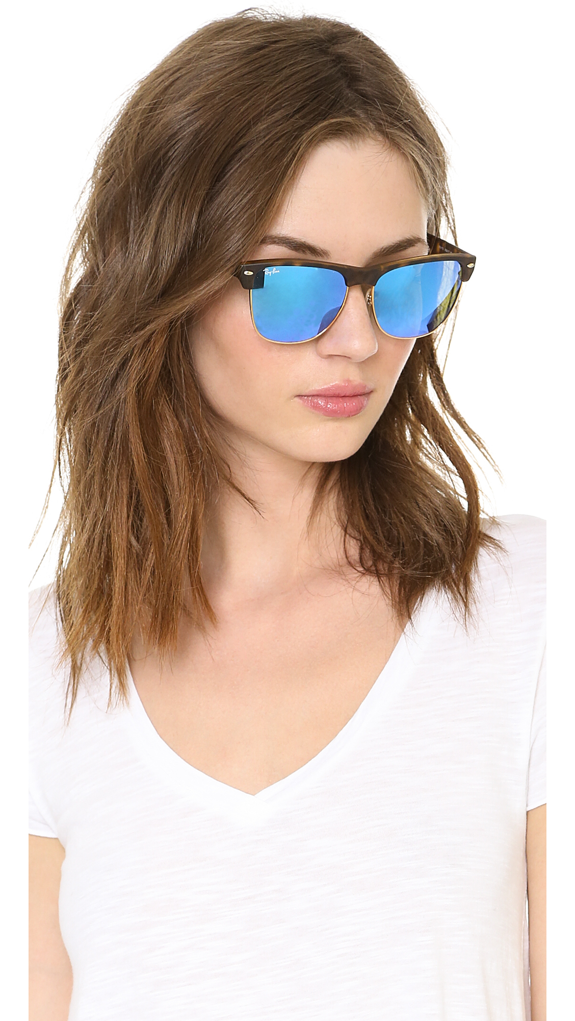 eb037881c8 Ray-Ban Mirrored Highstreet Sunglasses Matte Havanabrown Mirror Pink ...