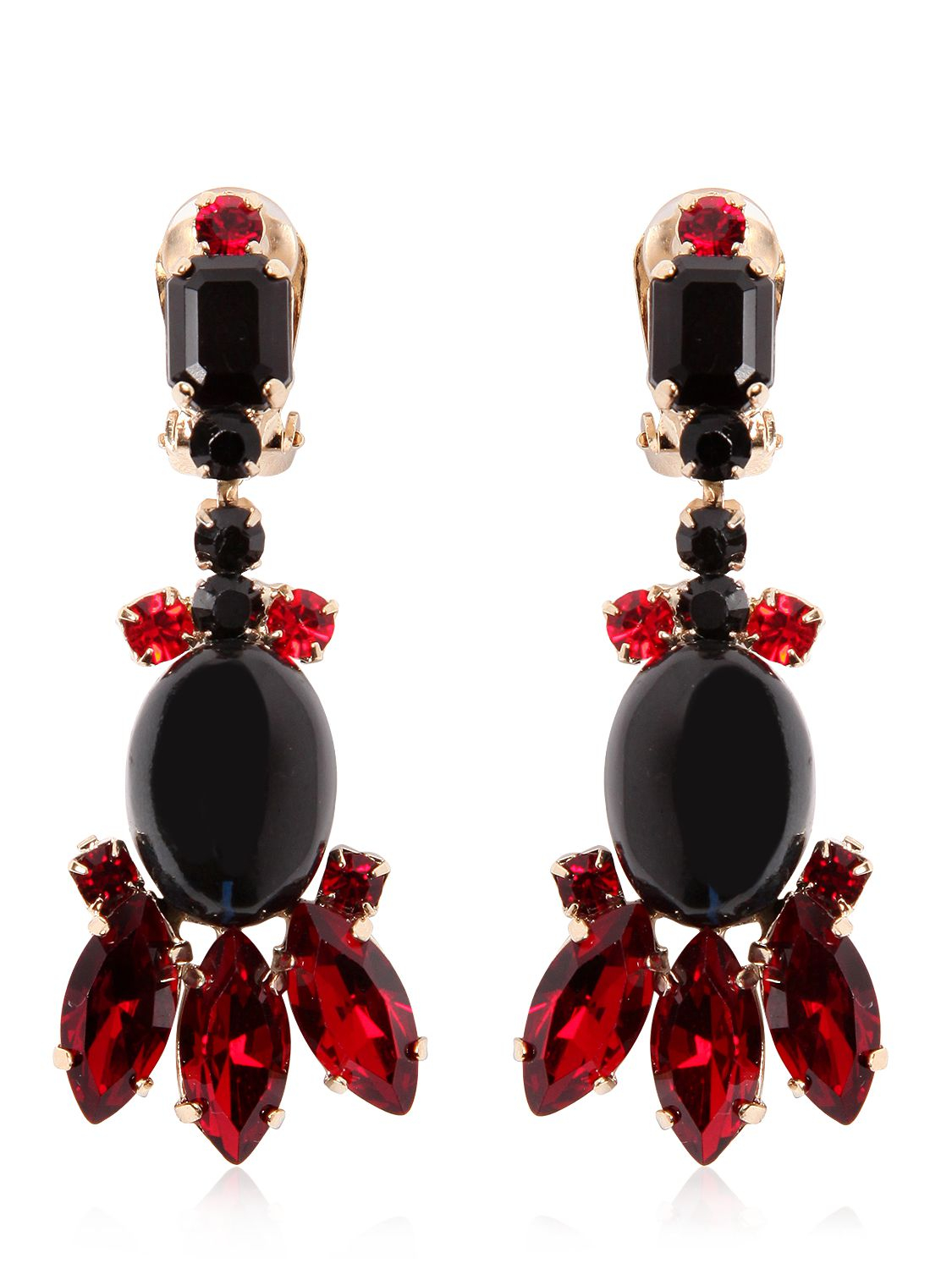 Shop red clip-on earrings and other red earrings items from the world's best dealers at 1stdibs. Global shipping available.