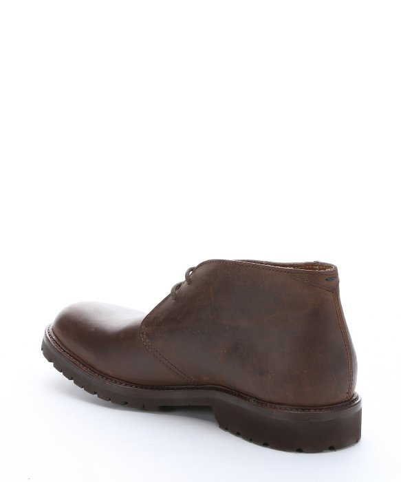 Brunello cucinelli Brown Distressed Leather Lace-up Chukka Boots ...