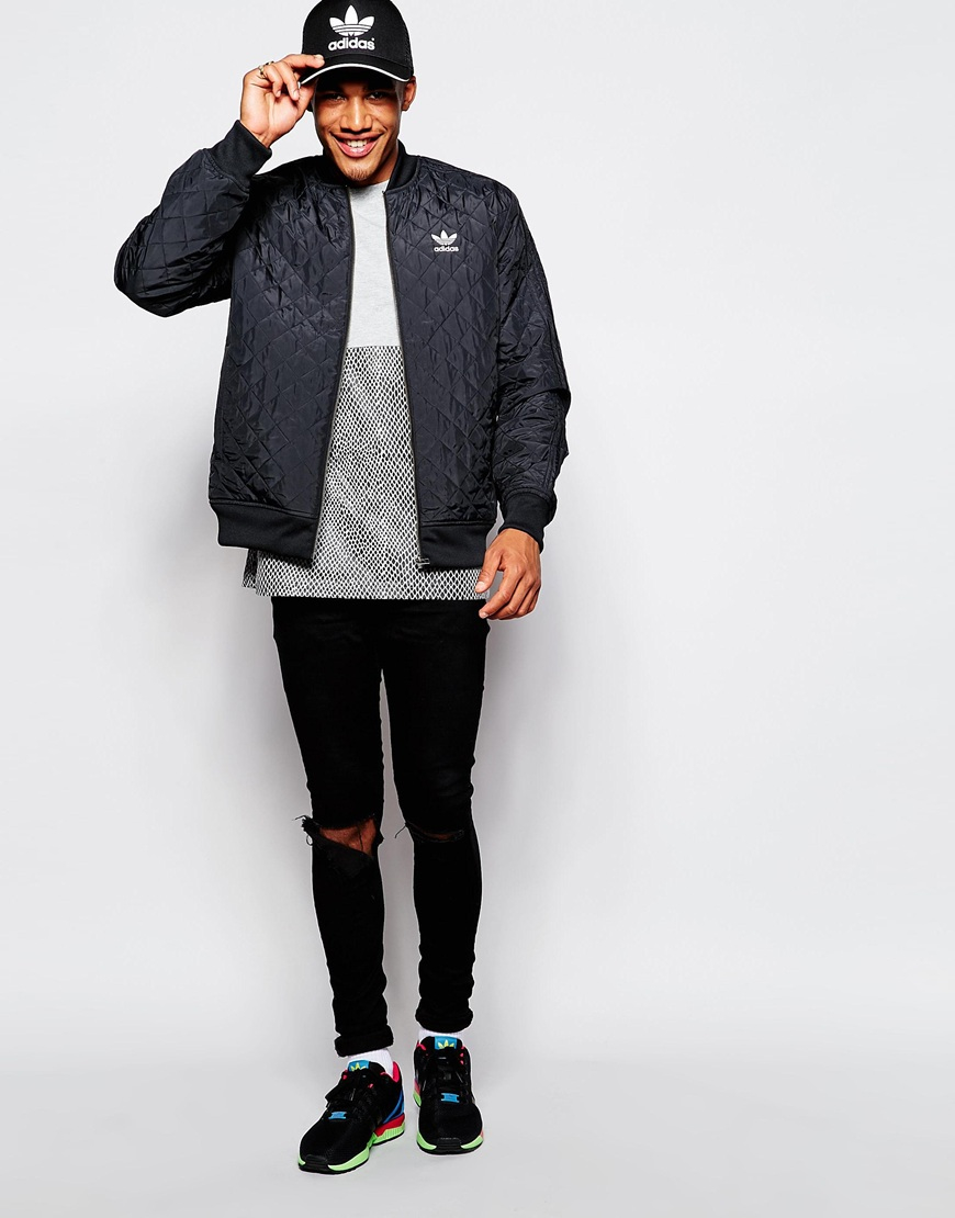 Adidas Originals Quilted Jacket Ab7862 In Black For Men Lyst