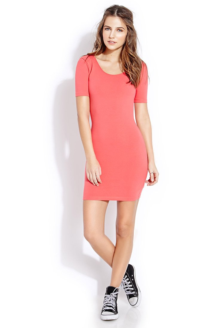 Pink bodycon dress forever 21 centre monthly