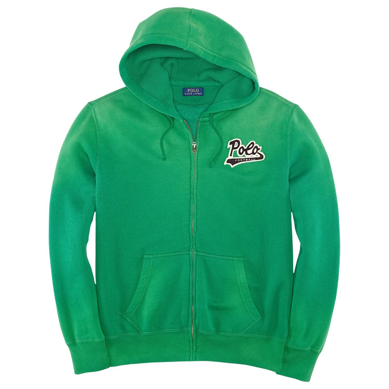 ralph lauren polo football full zip hoodie in green for. Black Bedroom Furniture Sets. Home Design Ideas