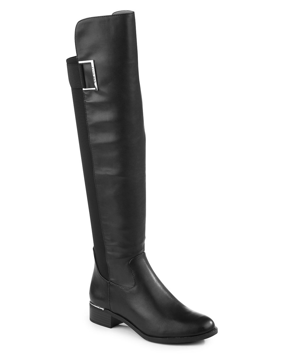 calvin klein cylan leather boots in black lyst