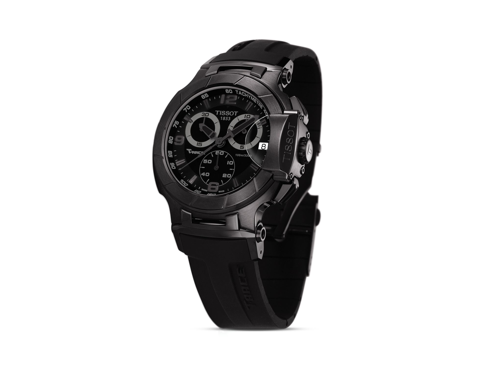 8997f4b331b Tissot T-race Men's Black Quartz Chronograph Sport Watch, 50mm in ...