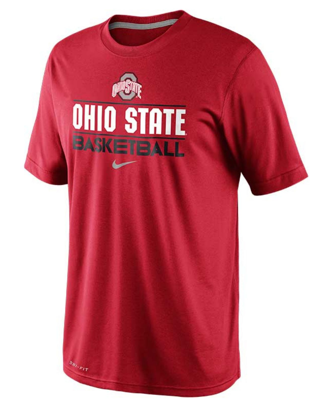 Nike men 39 s ohio state buckeyes team issue practice dri fit for Ohio state shirts mens