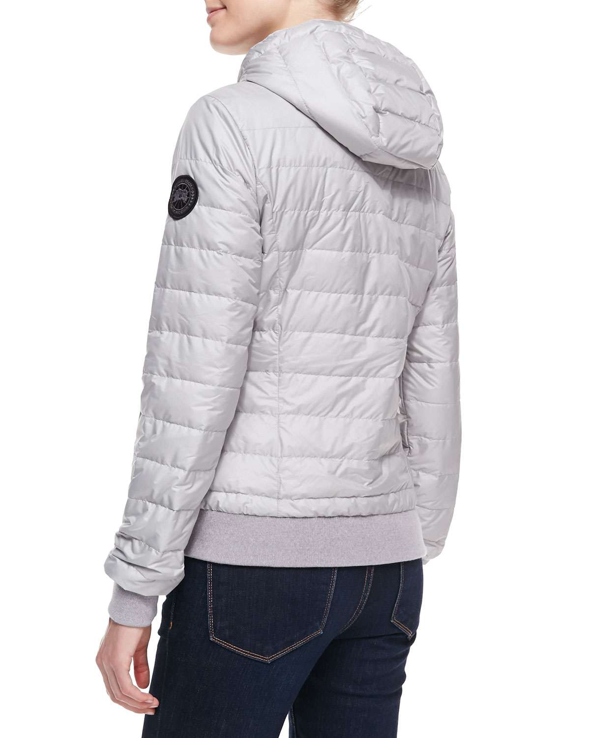 27bf3c99f63b ... inexpensive lyst canada goose sydney hoodie jacket silverbirch in  metallic f0160 d9470