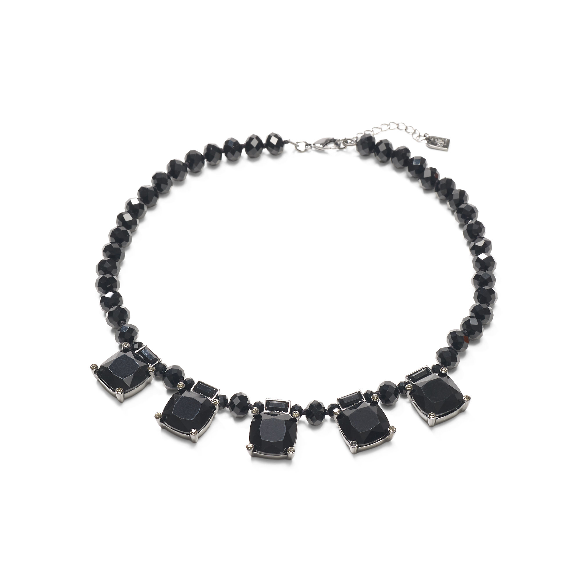 robert morris pav 233 nugget necklace necklaces ralph jet toned bib necklace in black lyst