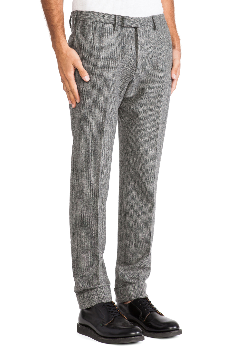 Gant Rugger Herringbone Smarty Pants In Gray For Men Lyst