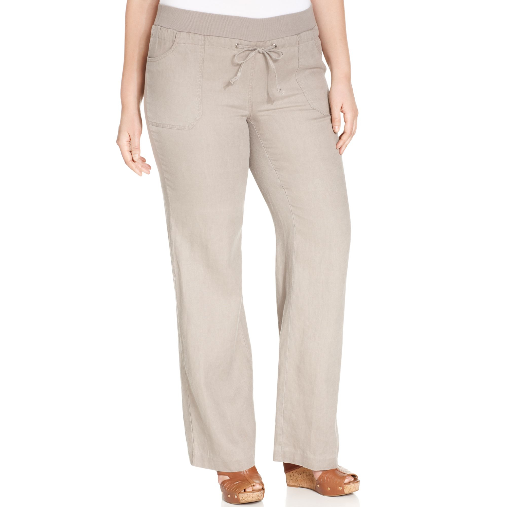 Collection Plus Size Wide Leg Linen Pants Pictures - Watch Out ...