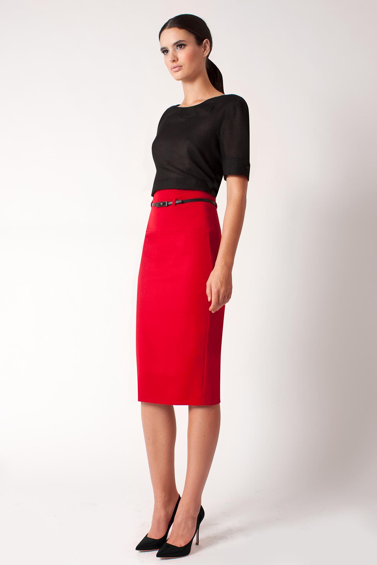 b01dc055d1 High Waisted Red Pencil Skirt - Image Skirt and Slipper Imagepv.co