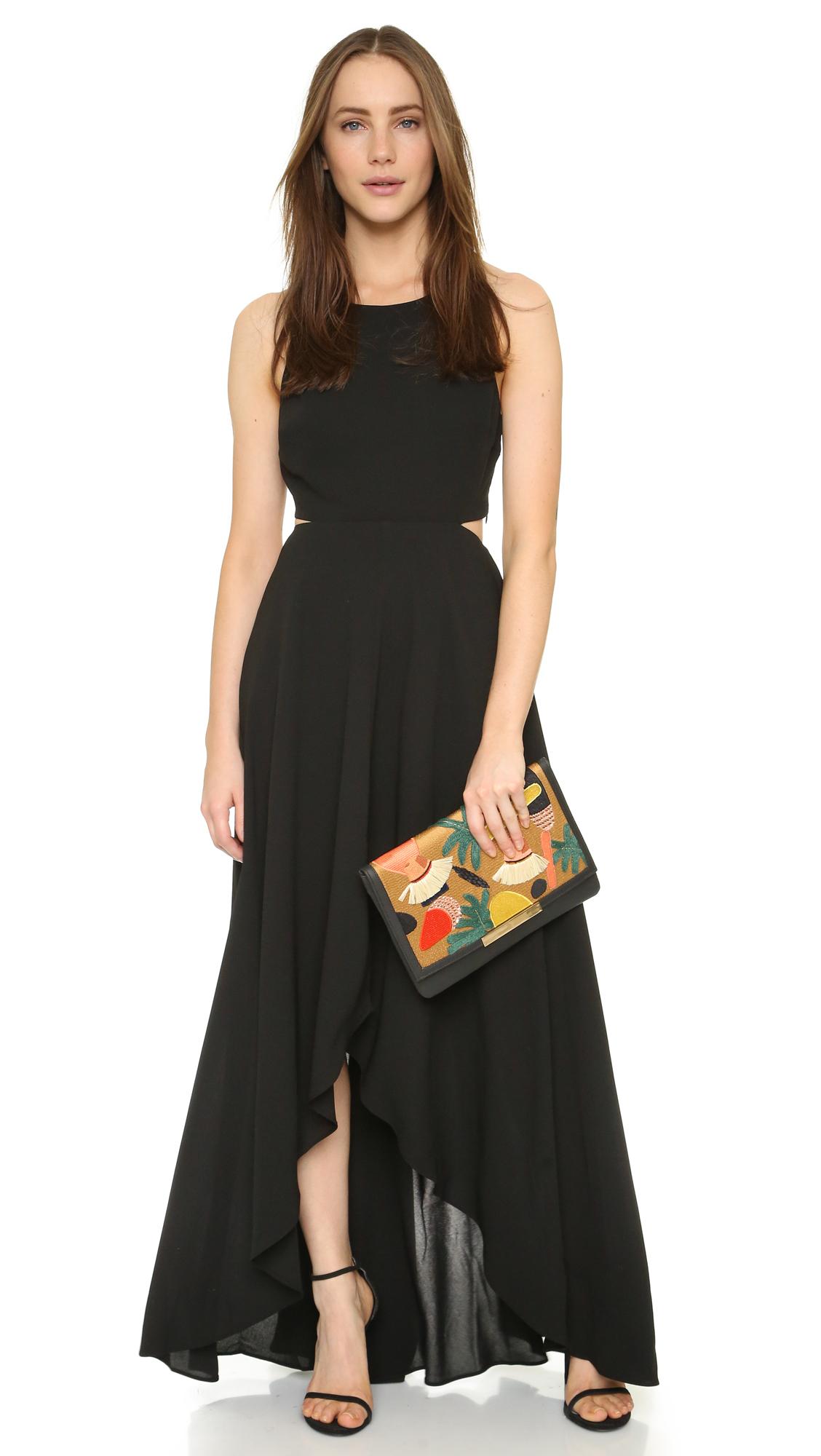 Ali Amp Jay Cutout Cascade Maxi Dress In Black Lyst