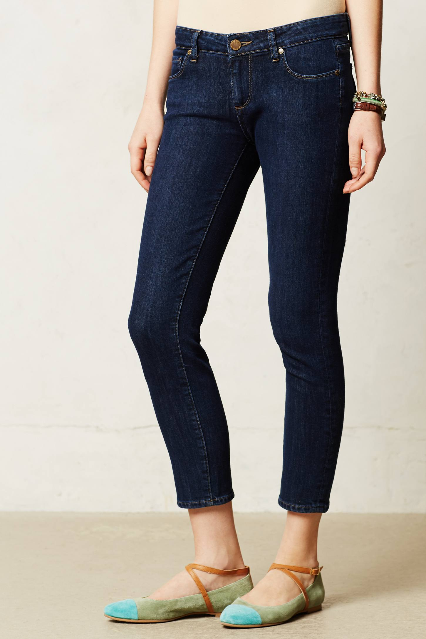 Paige Kylie Crop Jeans In Blue Lyst