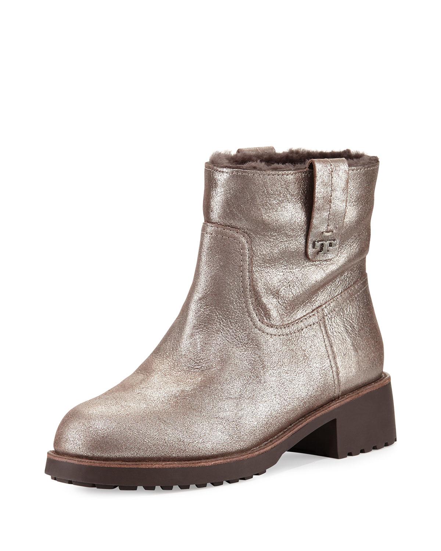 03fab26ed0ef Lyst - Tory Burch Wayland Fur-lined Boot in Metallic