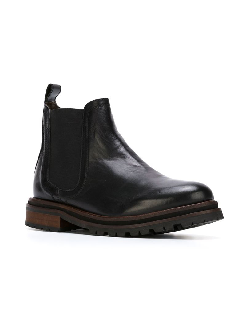 h by hudson 39 wistow 39 chelsea boots in black lyst. Black Bedroom Furniture Sets. Home Design Ideas