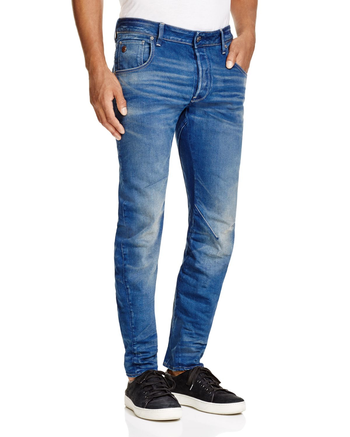 g star raw raw arc 3d slim fit jeans in medium age in blue. Black Bedroom Furniture Sets. Home Design Ideas
