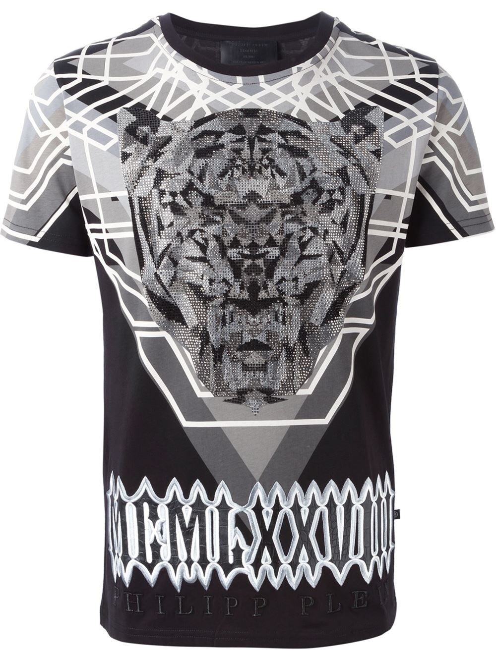 philipp plein 39 warrior 39 t shirt in black for men lyst. Black Bedroom Furniture Sets. Home Design Ideas