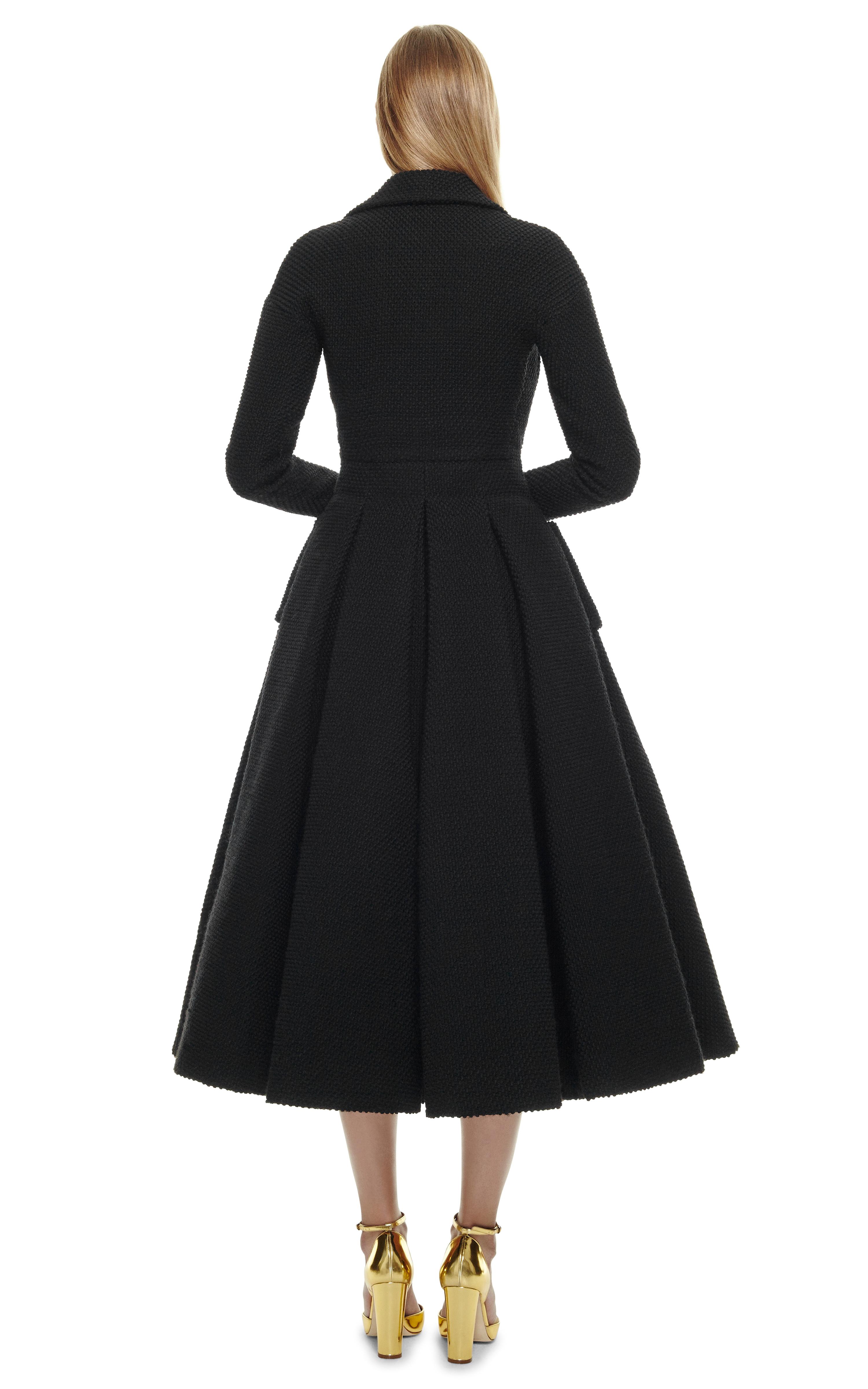 Emilia Wickstead C Coat Dress With Tuille Fusing In Black
