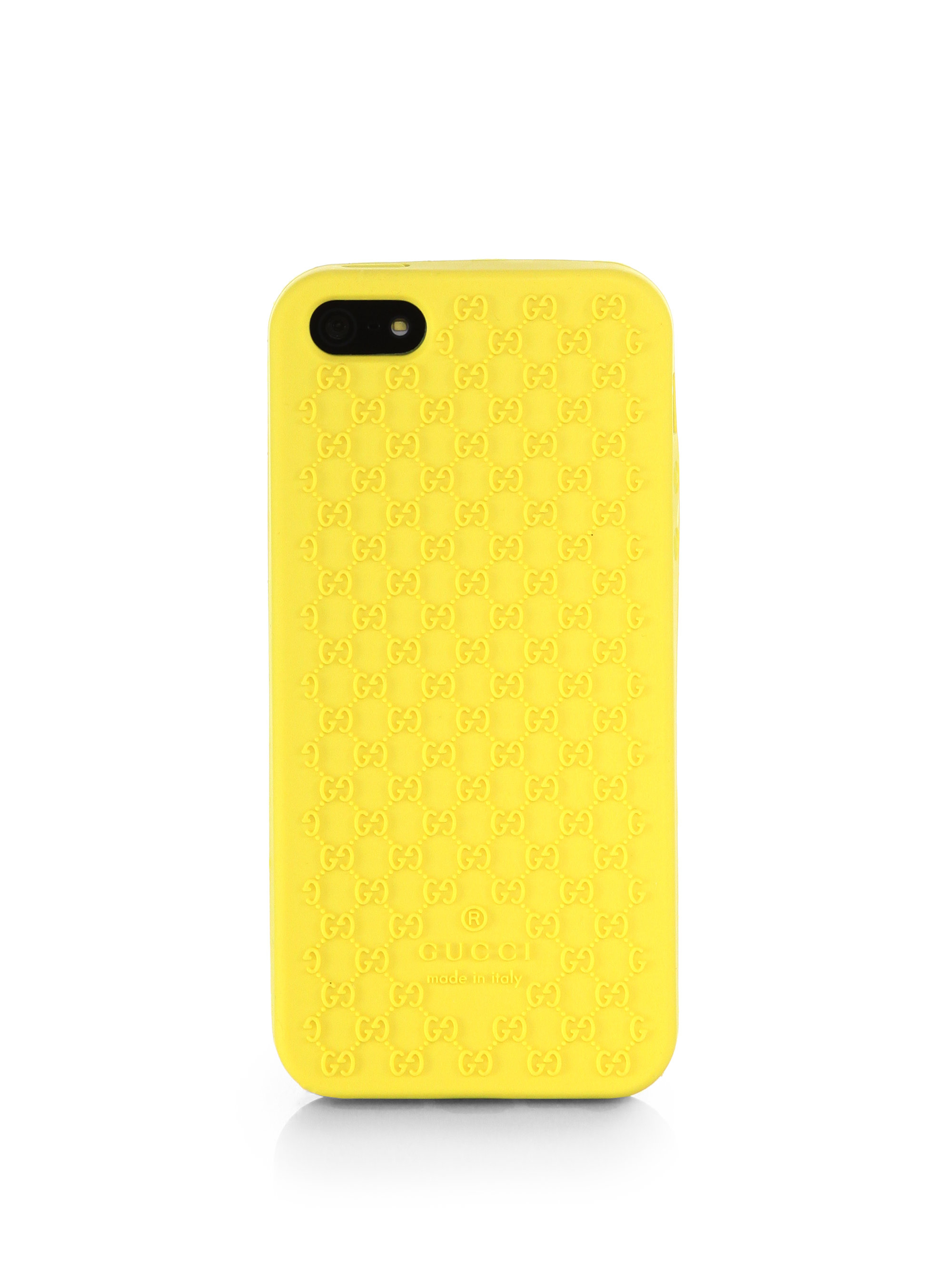 newest 4fd66 e0d25 Gucci Yellow GG Plastic iPhone 5/5s Case for men