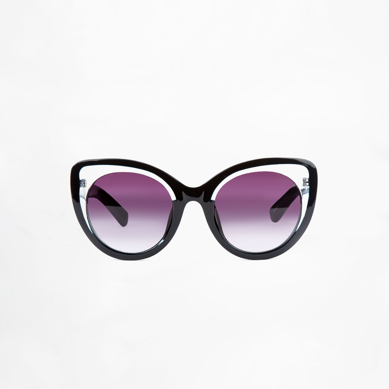 Cat Eye Matte Black Sunglasses