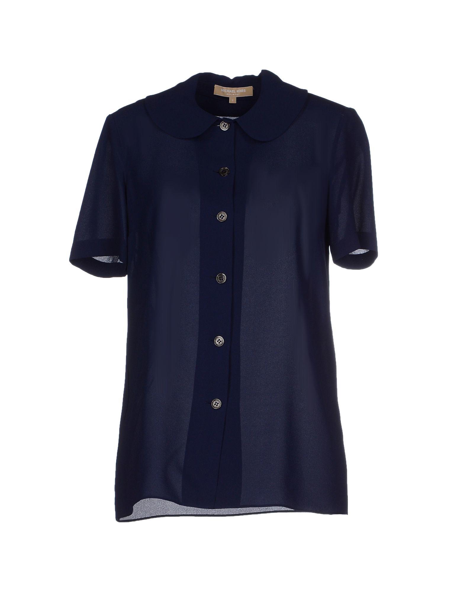 michael kors shirt in blue lyst. Black Bedroom Furniture Sets. Home Design Ideas