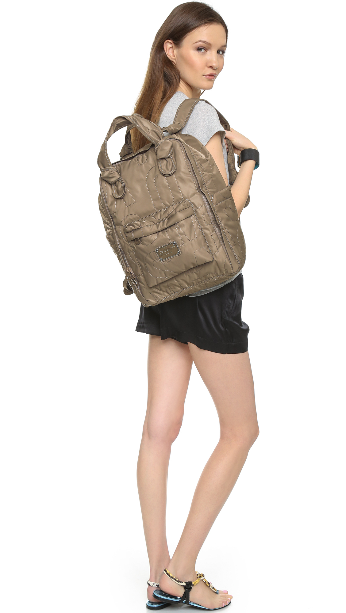 Lyst - Marc By Marc Jacobs Pretty Nylon Backpack in Gray