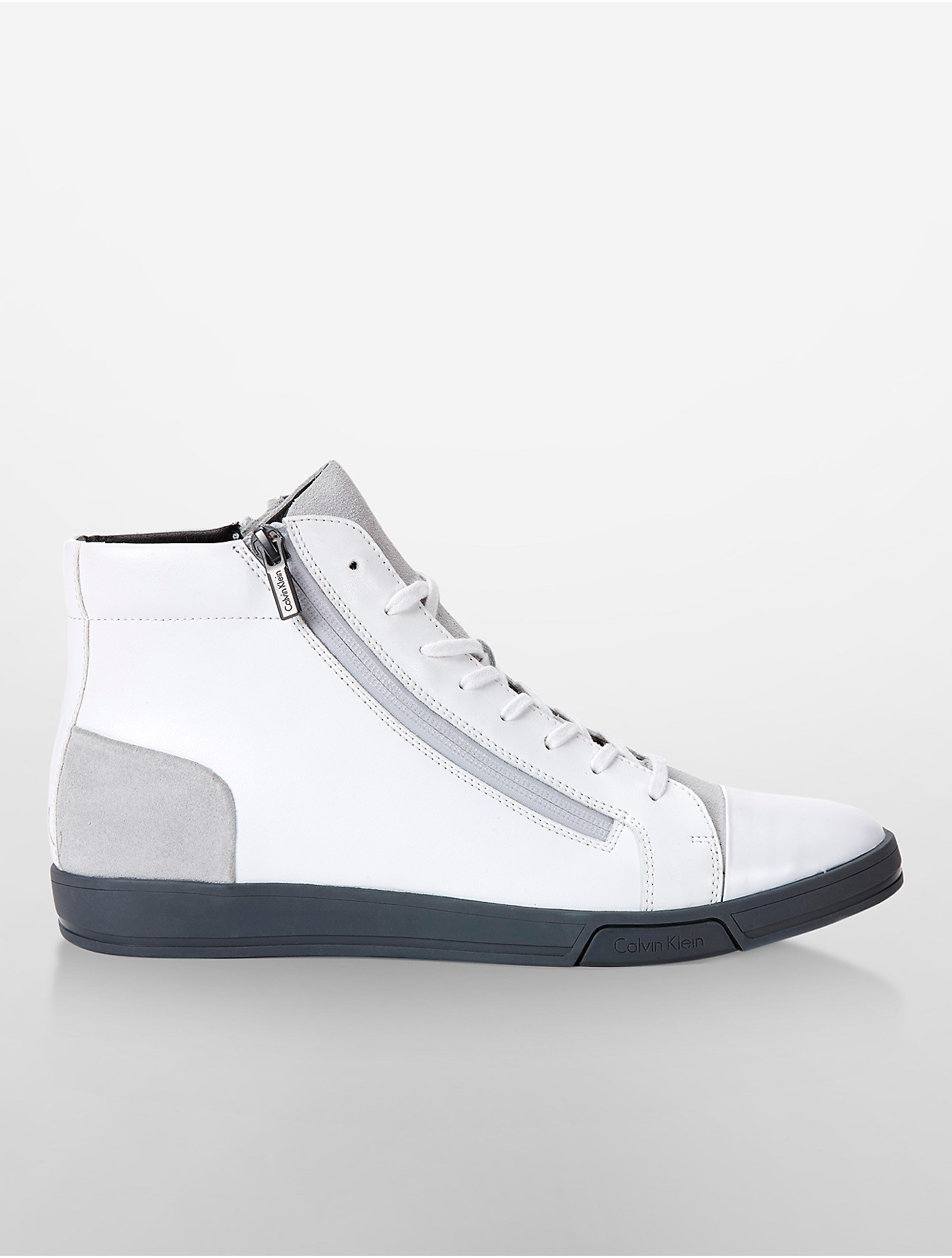 calvin klein white label berke high top sneaker in white lyst. Black Bedroom Furniture Sets. Home Design Ideas