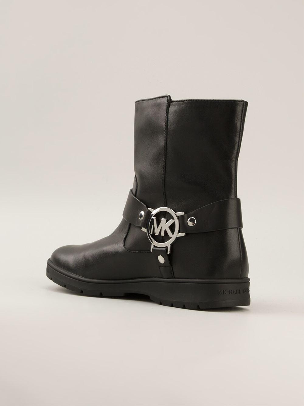 Michael Kors 'Fulton' Biker Boots in Black