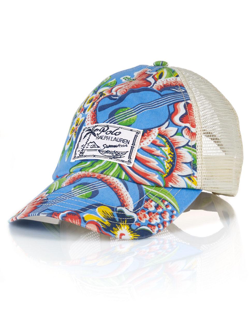9cd5527c Polo Ralph Lauren Tropical Trucker Hat in Blue for Men - Lyst