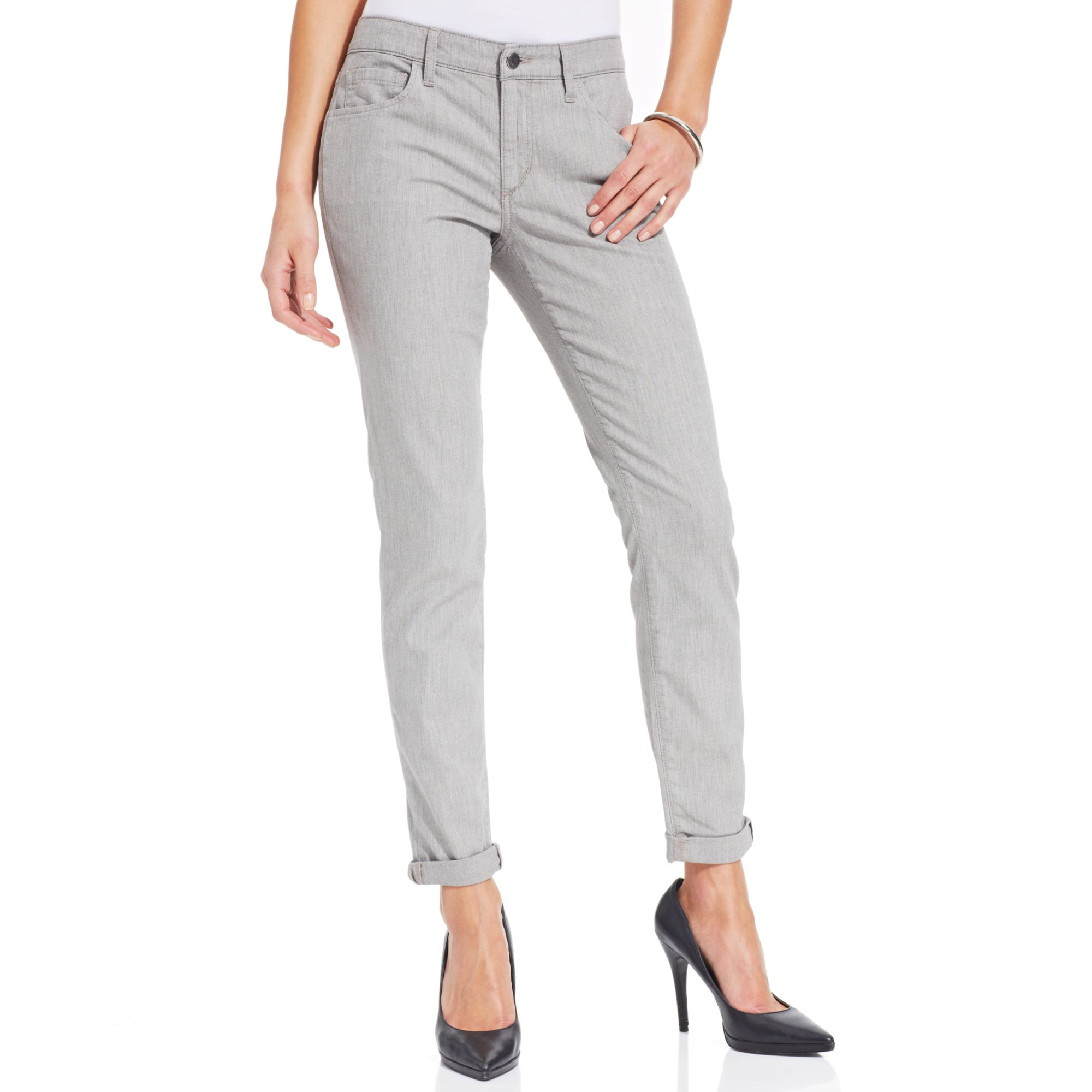Joe 39 s jeans jeans grey chambray pants in gray greystone for Chambray jeans