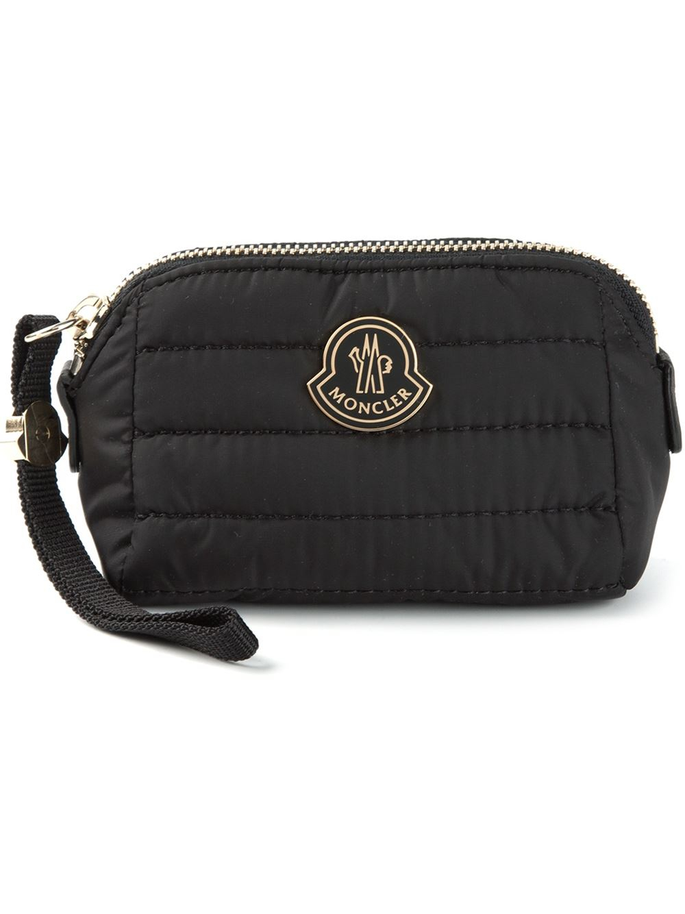 Lyst - Moncler Quilted Wash Bag in Black 7ec1b76324030