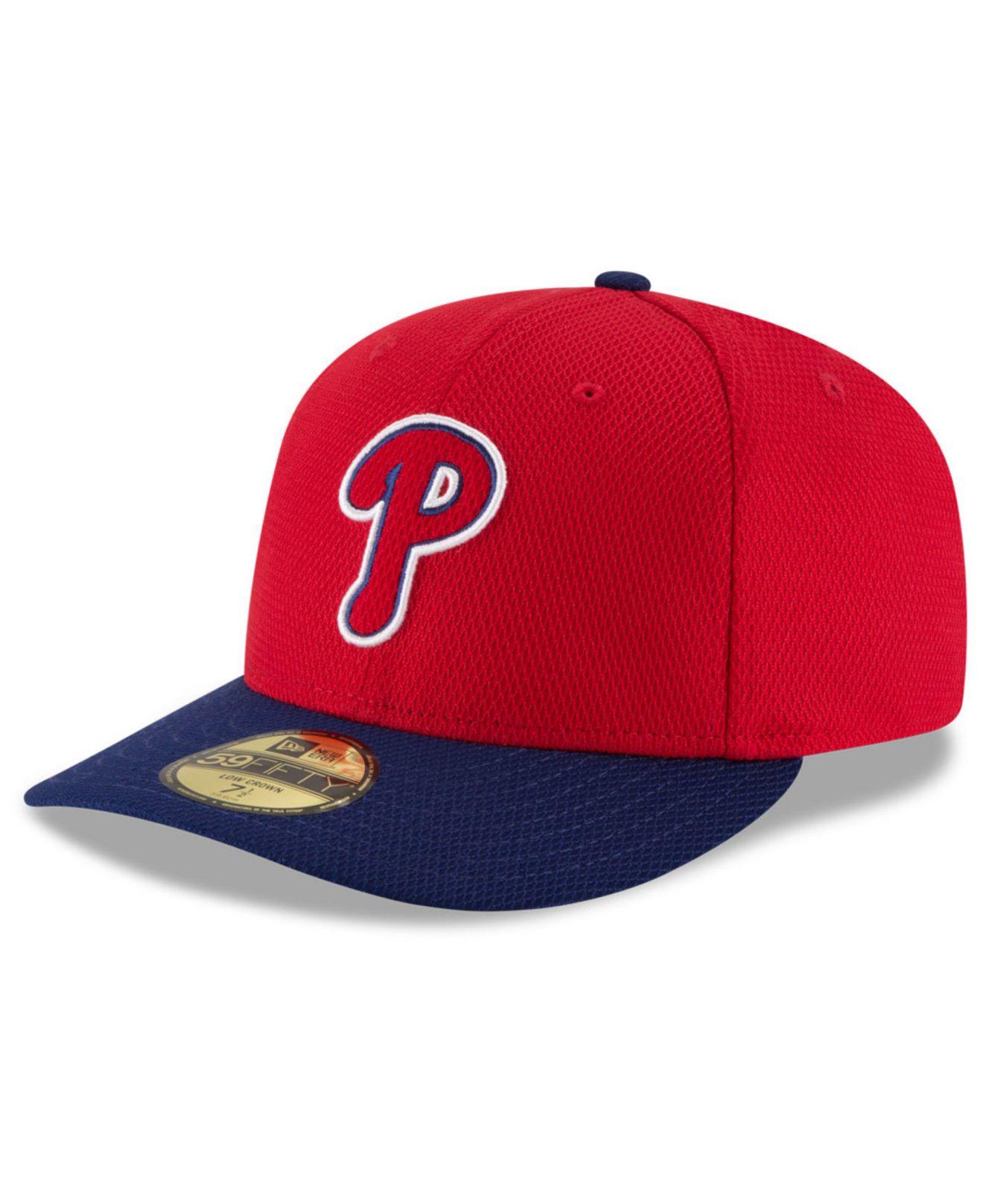 750cfea085d Lyst - KTZ Philadelphia Phillies Low Profile Diamond Era 59fifty Cap ...