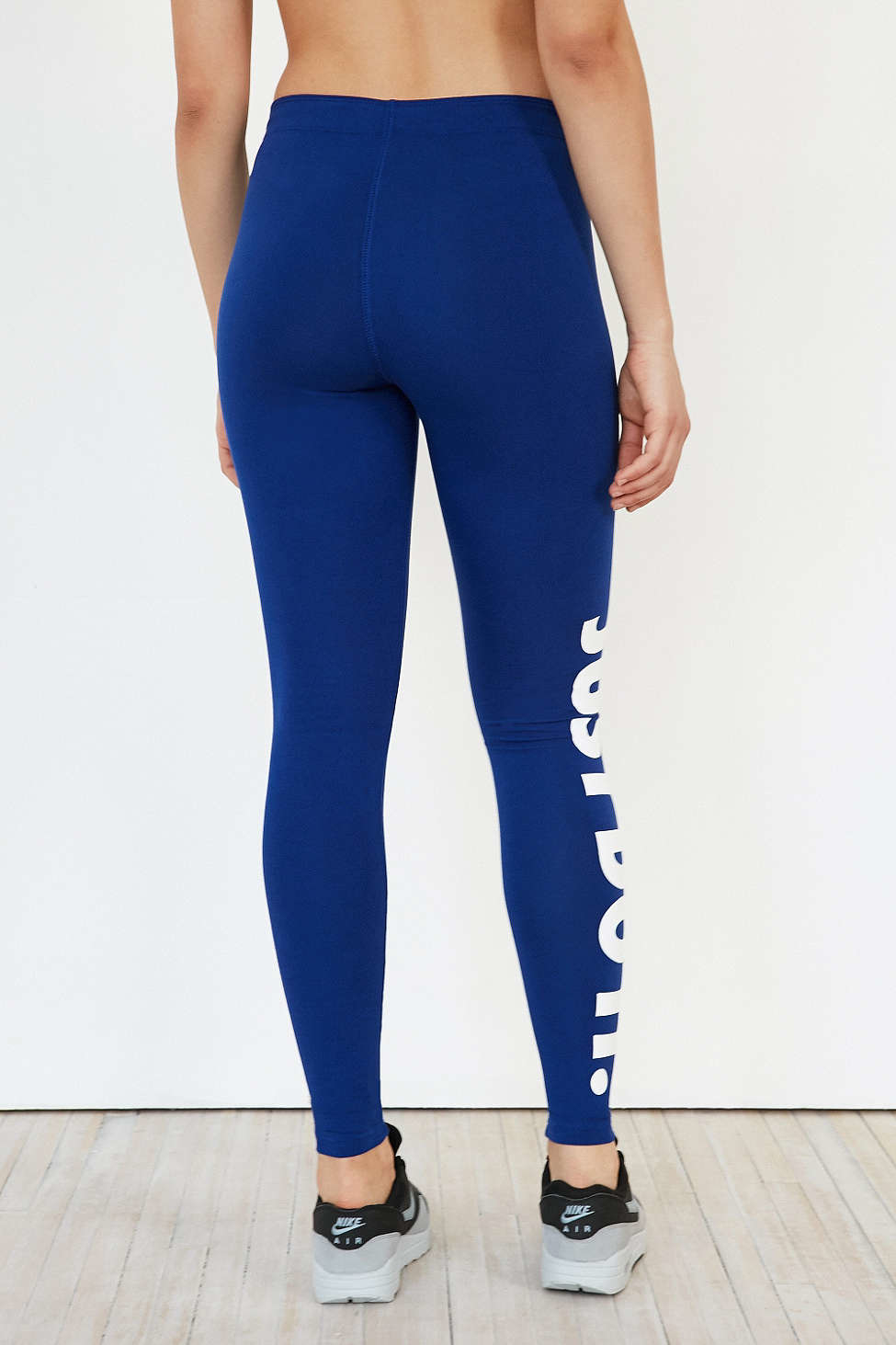 nike leg a see just do it legging in blue lyst. Black Bedroom Furniture Sets. Home Design Ideas