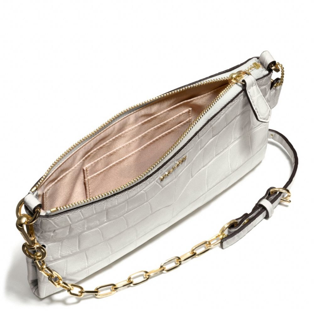 270669088c5a1 COACH Madison Kylie Crossbody in Croc Embossed Leather in Natural - Lyst