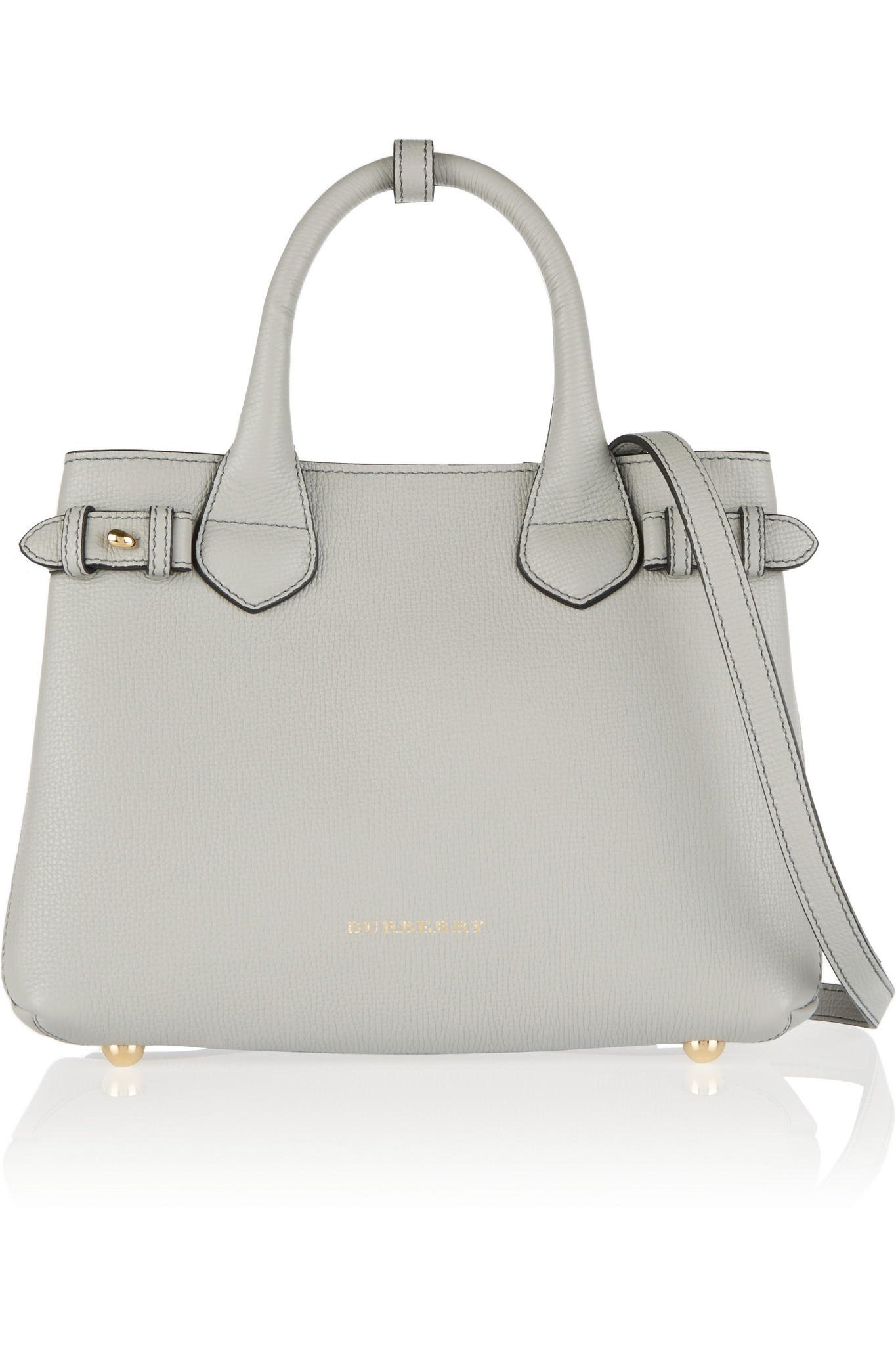 Lyst - Burberry London Small Checked Canvas-paneled Leather Shoulder ... 1833256e29987