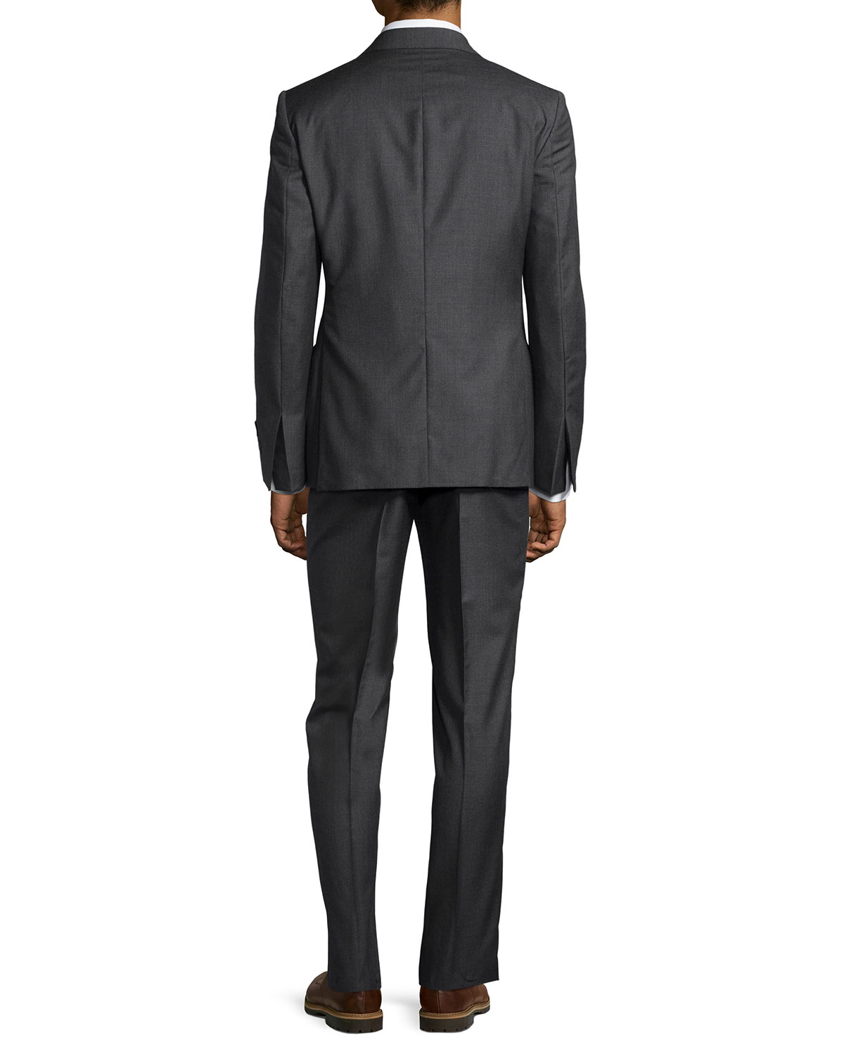 neiman modern fit neat two suit in gray for