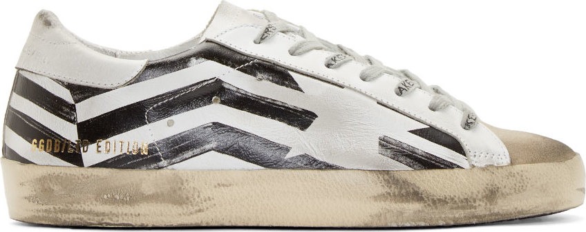 wbsjn Golden goose deluxe brand Black And White Striped Superstar