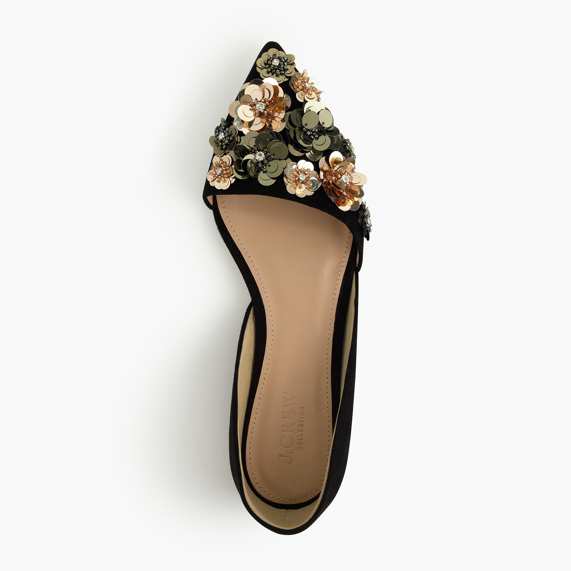 Lyst J Crew Collection Sloan Flower Sequin D Orsay Flats