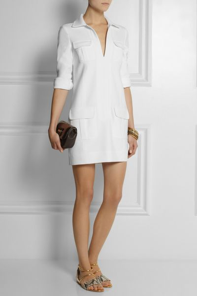 Dvf Dresses Dilly Ceramic Tunic Dress Dilly Crepe Dress in White