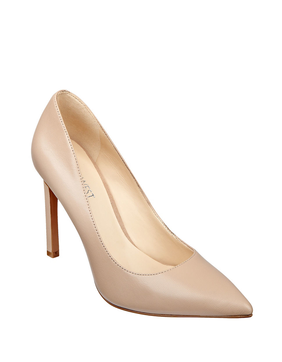 88c3cd8565f Nine West Natural Tatiana Point-toe Leather Pumps