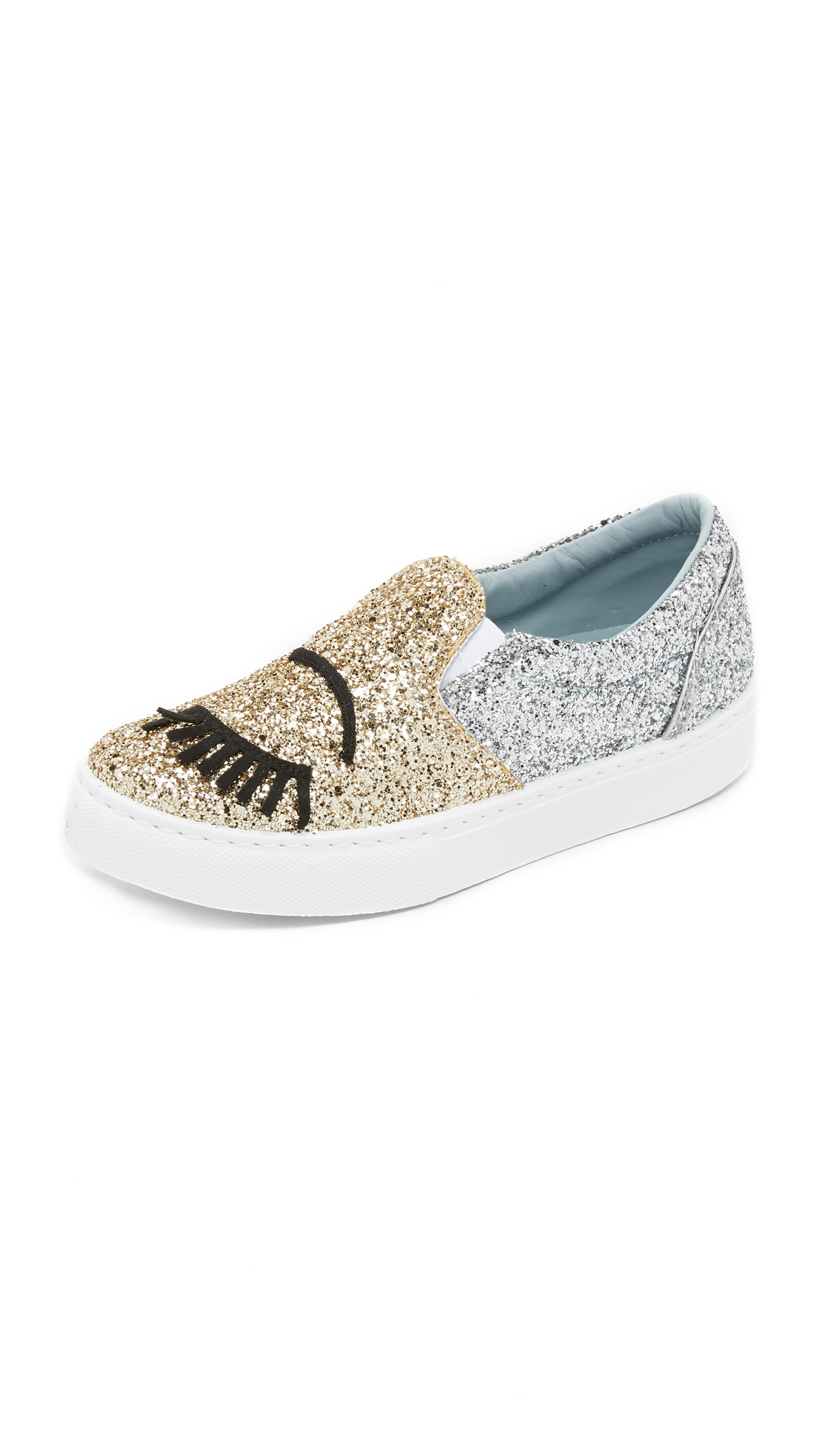 sequin embroidered sneakers - Metallic Chiara Ferragni Clearance Footlocker Finishline Cheap Footlocker Pictures Free Shipping Largest Supplier 2018 Unisex Cheap Online ZbWrW