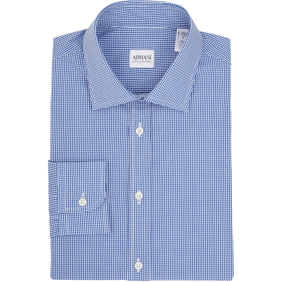 armani gingham check dress shirt in blue for men lyst ForBlue Check Dress Shirt