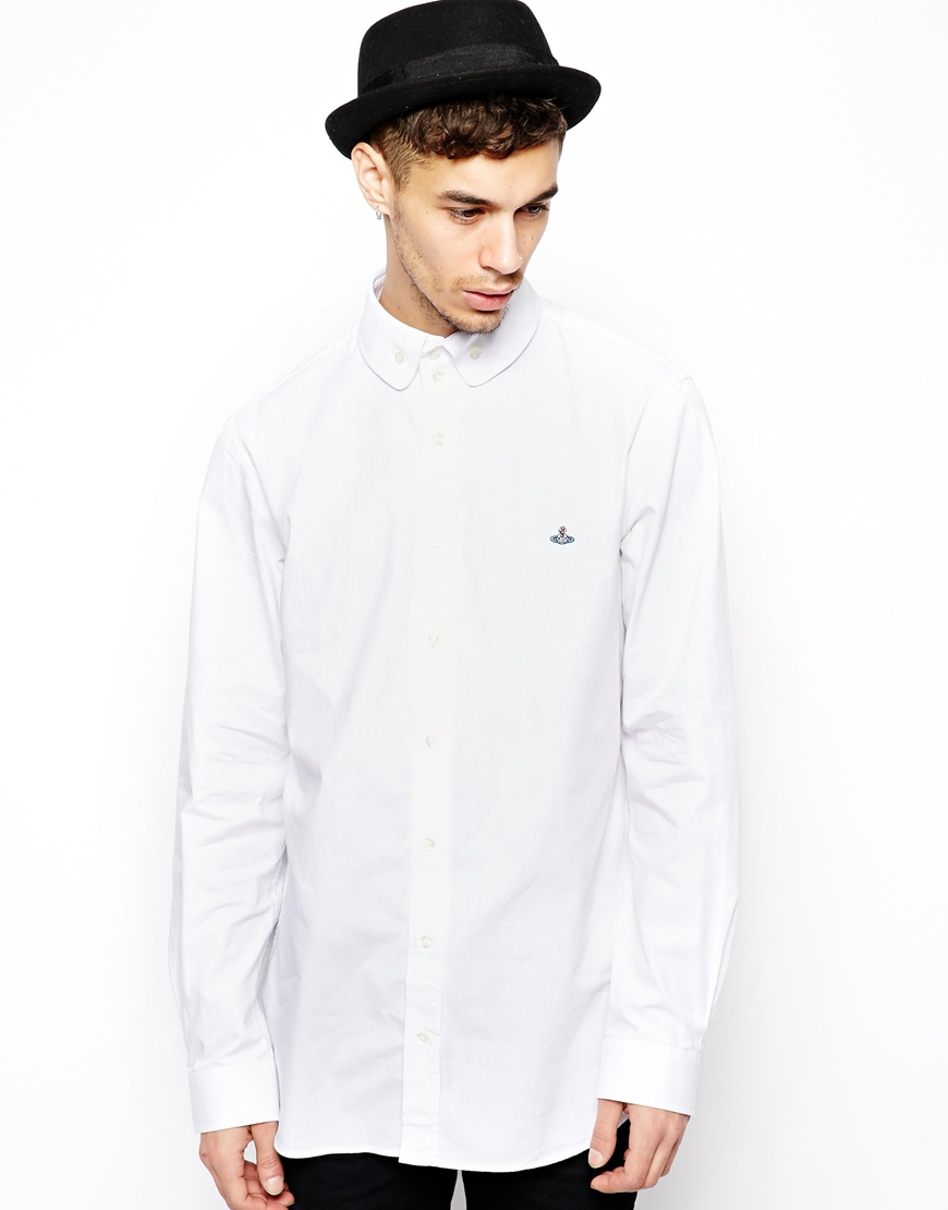 Vivienne Westwood Oxford Shirt In White For Men Lyst