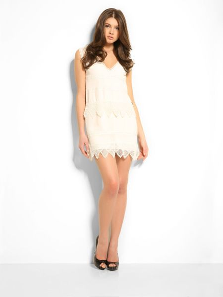 Guess Sofia Lace Dress In White White Multi Lyst
